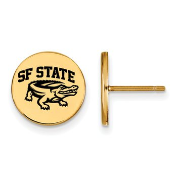 Gold-Plated Sterling Silver San Francisco State University NCAA Earrings
