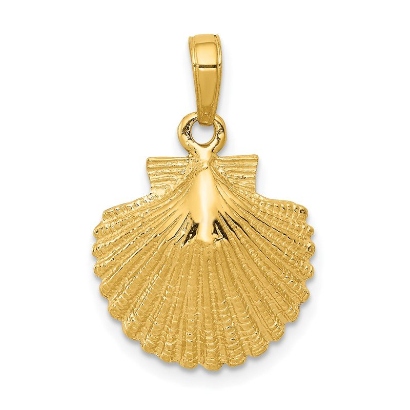 Fine Jewelry by JBD 14k Scallop Shell Pendant