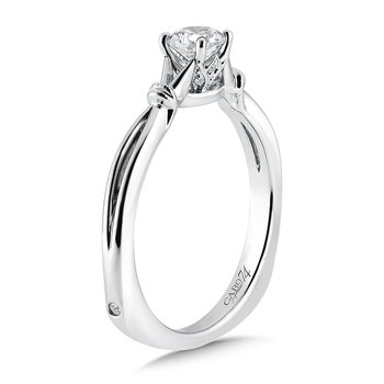 Inspired Vintage Collection Solitaire Engagement Ring in 14K White Gold with Platinum Head (1/3ct. tw.)