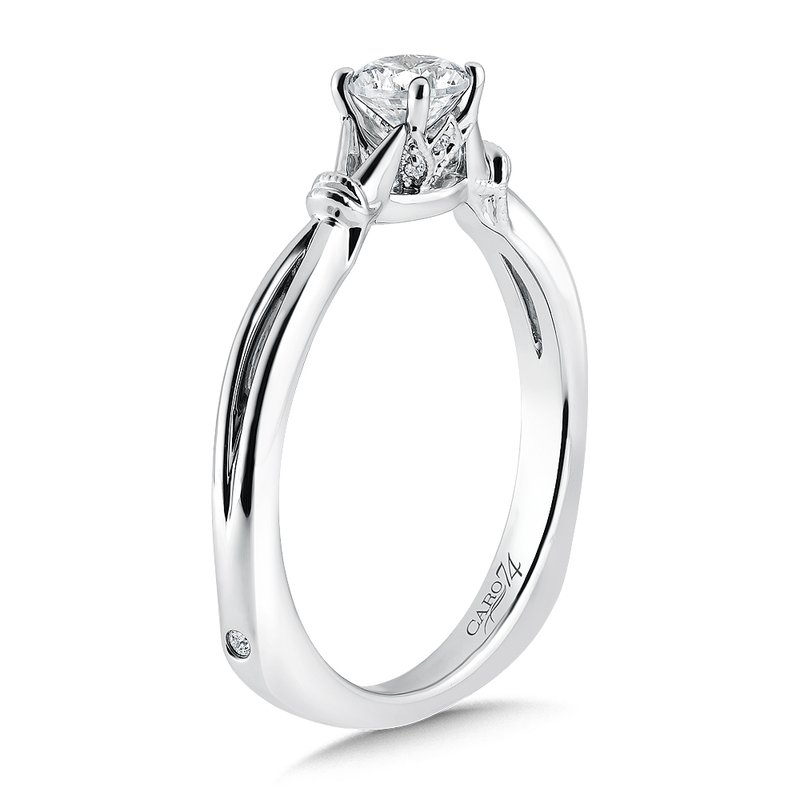 Caro74 Inspired Vintage Collection Solitaire Engagement Ring in 14K White Gold with Platinum Head (1/3ct. tw.)