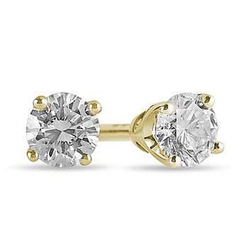 14K YG Diamond Stud E/R Tiara Coll. TDW 0.30 -for Moun
