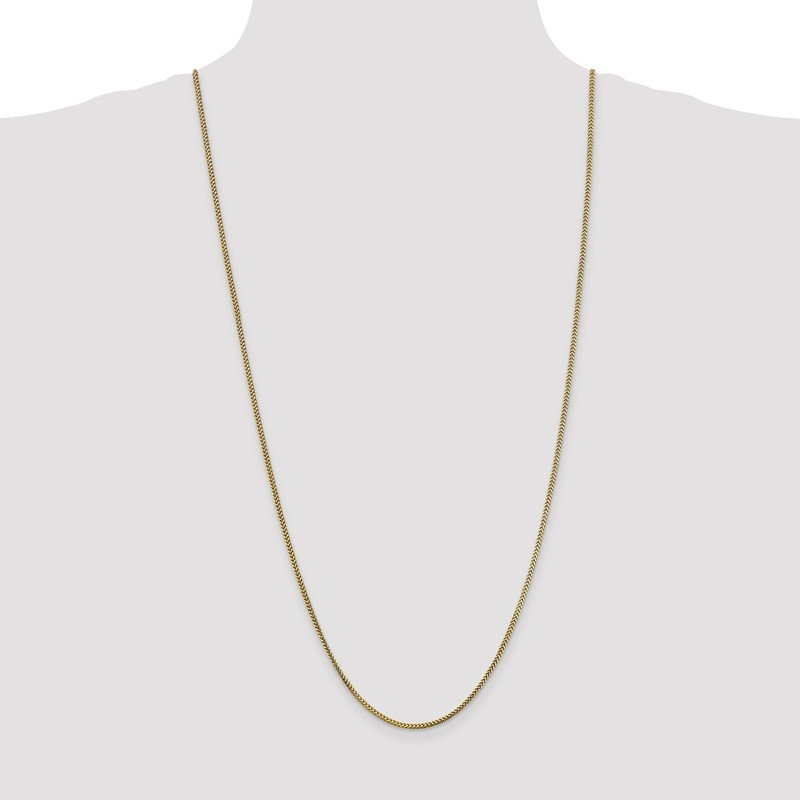 Quality Gold 10k 1.5mm Franco Chain