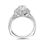 Valina Halo Engagement Ring Mounting in 14K White Gold (.53 ct. tw.)