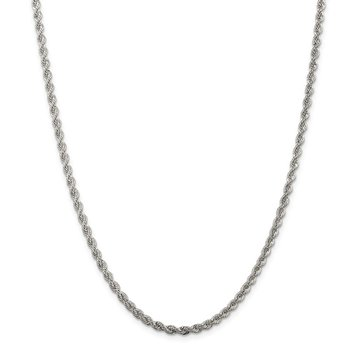 Sterling Silver 3mm Solid Rope Chain