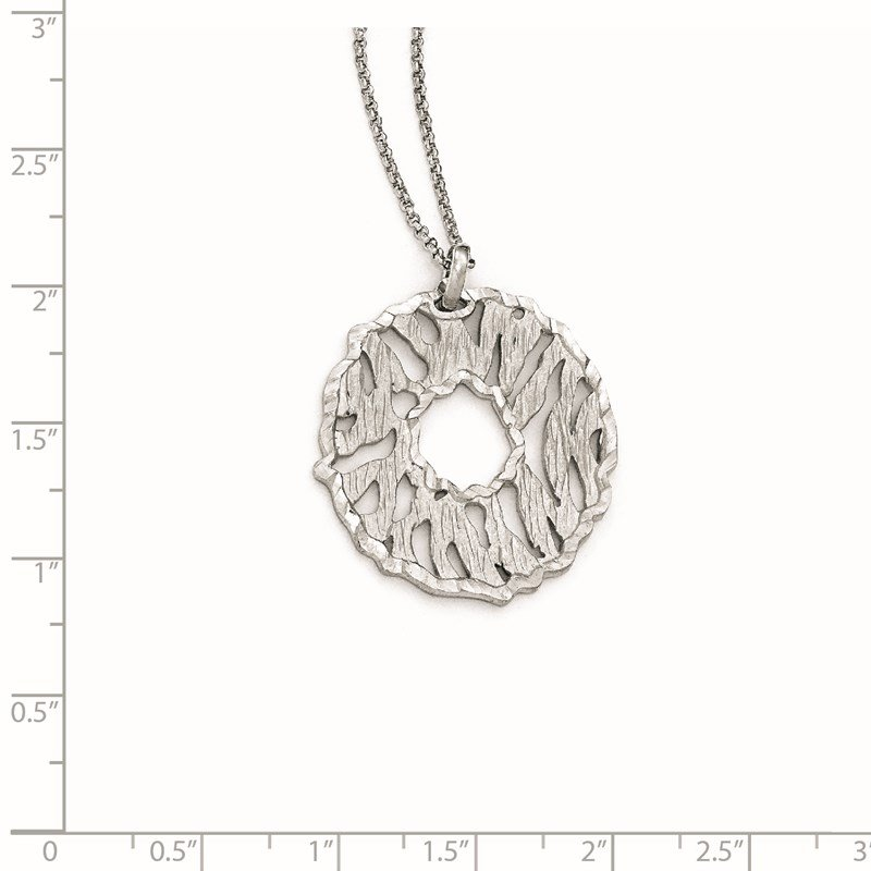 Leslie's Leslie's Sterling Silver Matte D/C w/2in ext. Necklace