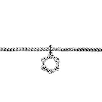 Classic Chain Star of David Charm Bracelet in Silver