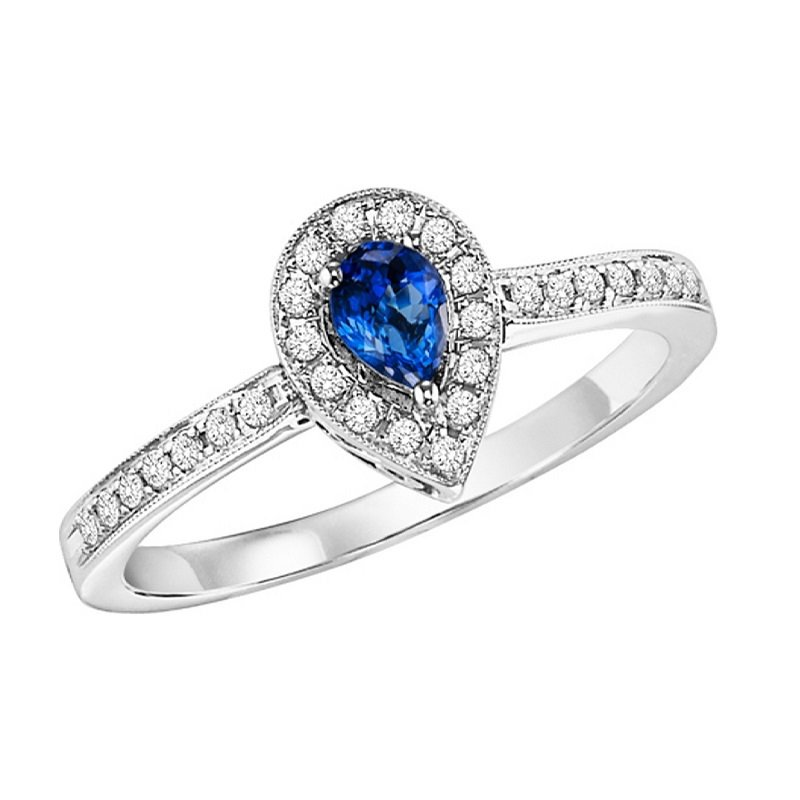 Mixables 14K Sapphire & Diamond Ring
