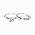 Simon G MR1686 WEDDING SET