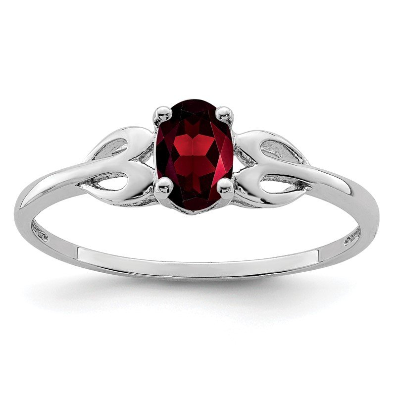 Quality Gold Sterling Silver Rhodium-plated Garnet Ring