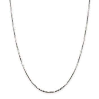 Sterling Silver 1.5mm 8 Sided Diamond-cut Box Chain