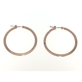 18K LARGE FLAT HOOP WITH SQUARED EDGE