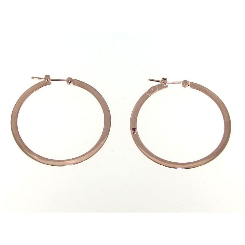 Roberto Coin  #27980 Of 18K Large Flat Hoop With Squared Edge