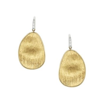 Lunaria Gold & Diamond Pave Medium Drop Earrings