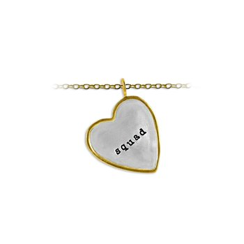 30mm Heart Shape Tag Charm with Frame