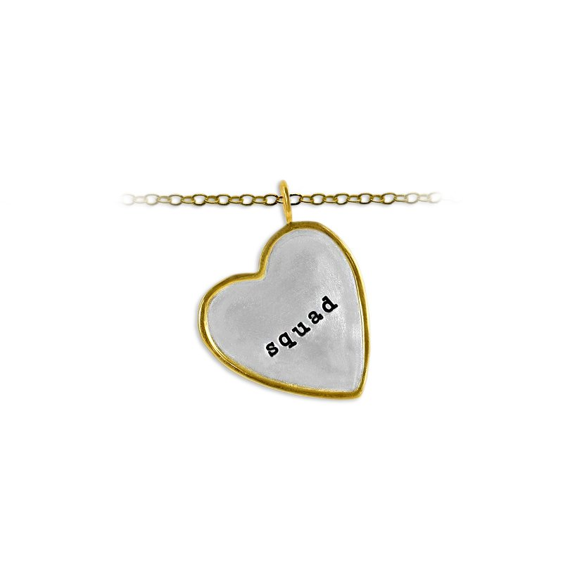 Slate and Tell 30mm Heart Shape Tag Charm with Frame