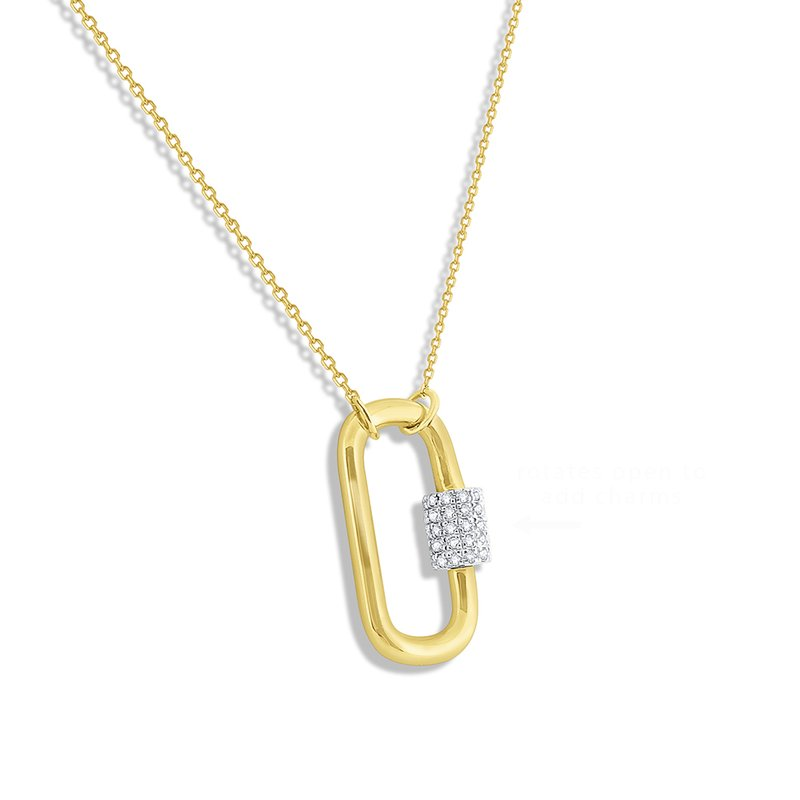 KC Designs 14k Gold and Diamond Charm Holder Necklace