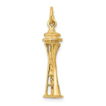 14k 3D Seattle Space Needle Charm