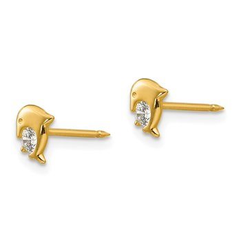Inverness 14k Dolphin CZ Earrings