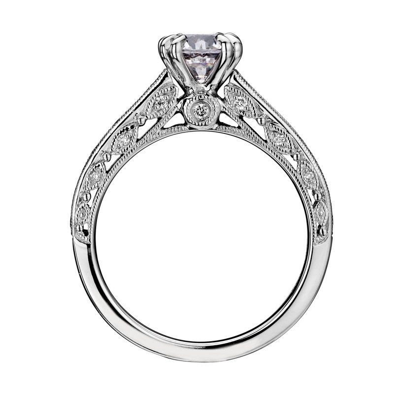 Scott Kay Palladium Engraved Three Sided Diamond Wedding: Motif Jewelers: Scott Kay M1860R510