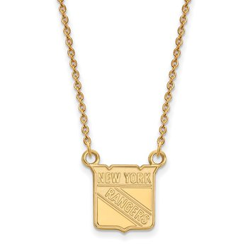 Gold-Plated Sterling Silver New York Rangers NHL Necklace