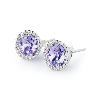 925‰ sterling silver and violet Swarovski® Elements.