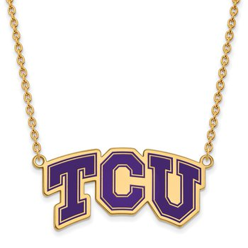 Gold-Plated Sterling Silver Texas Christian University NCAA Necklace