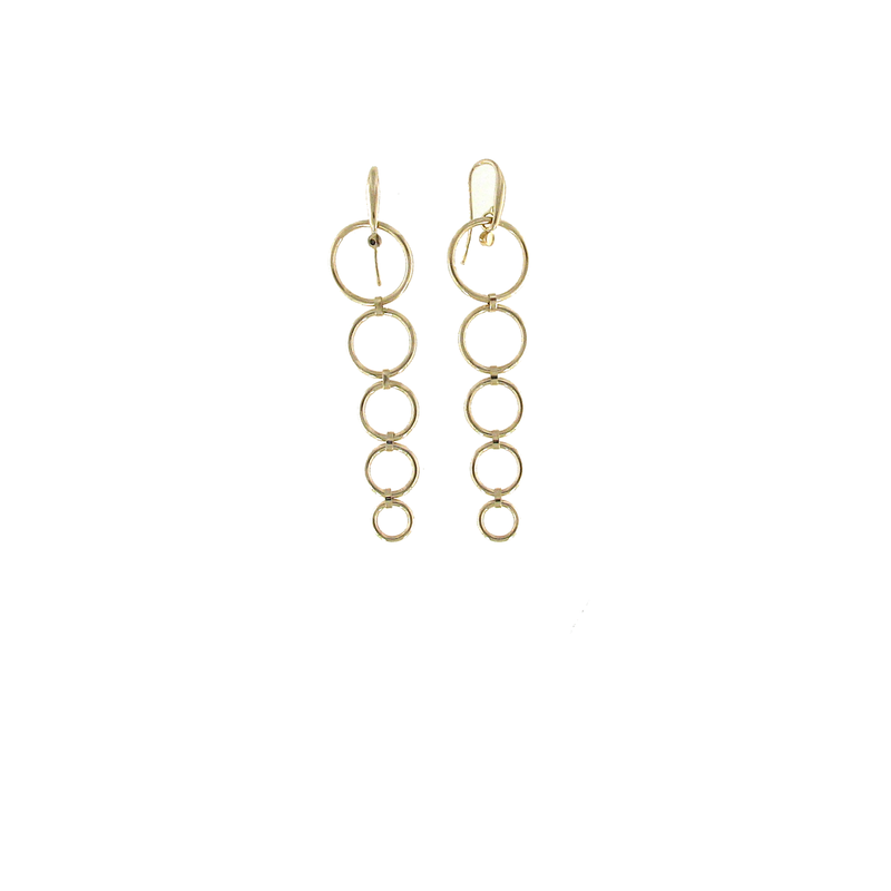 Roberto Coin 18Kt Gold 5 Circle Drop Earrings