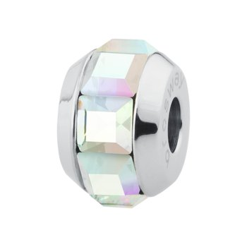 316L stainless steel and aurora borealis Swarovski® Elements