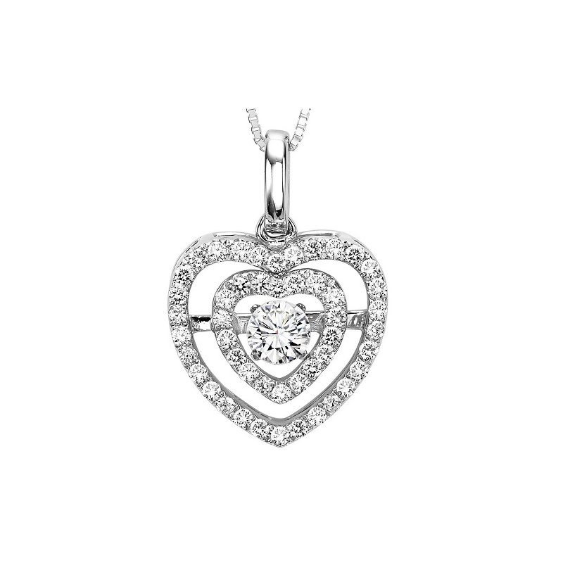 Rhythm of Love 14K Diamond Rhythm Of Love Pendant 3/8 ctw