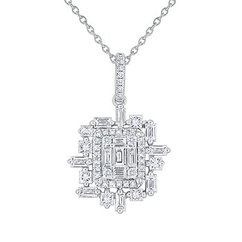 Diamond Metropolis Pendant Set in 14 Kt. Gold