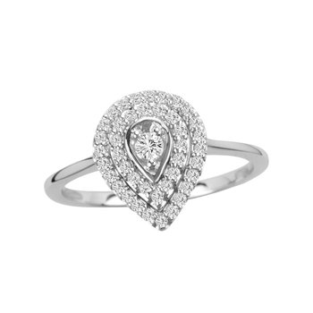 14K 0.27Ct Diamond Ring