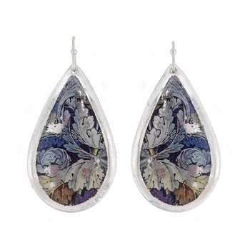 Leaves Medium Teardrop Earrings