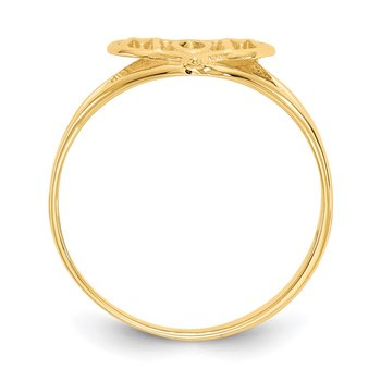 14k Polished Mom Heart Ring