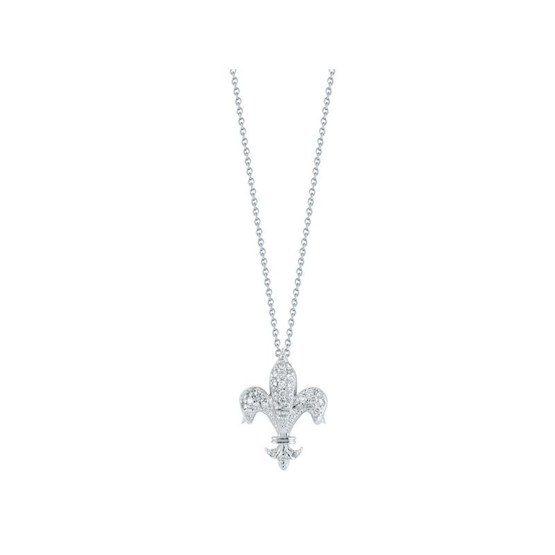 Roberto Coin 18Kt Gold Fleur De Lis Pendant With Diamonds