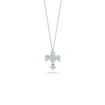 18Kt Gold Fleur De Lis Pendant With Diamonds