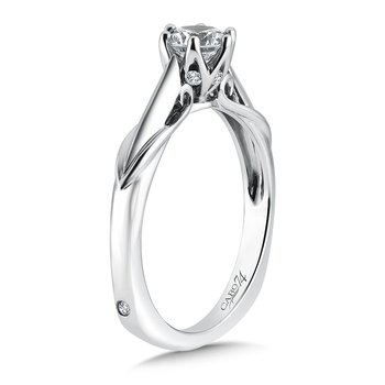 Round Six-Prong Solitaire Engagement Ring in 14K White Gold with Platinum Head (5/8ct. tw.)
