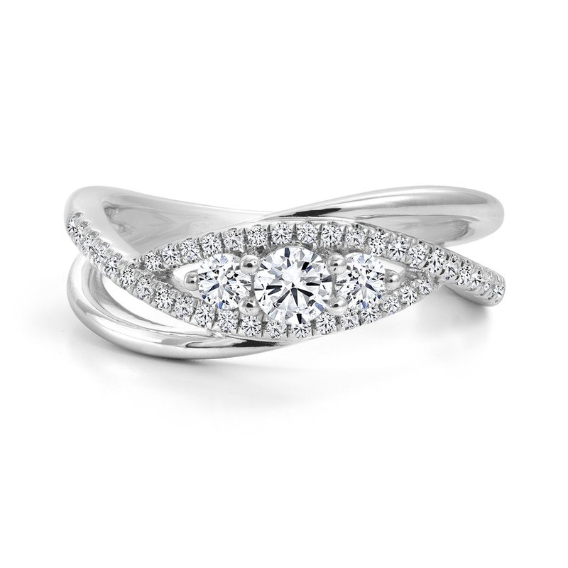 Canadian Rocks Three-Stone Diamond Ring