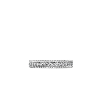Princess Ring With Diamonds &Ndash; 18K White Gold
