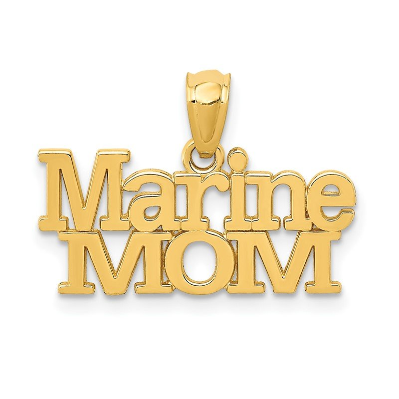 Quality Gold 14k MARINE MOM Pendant