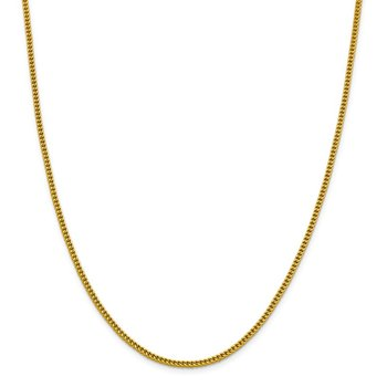 14k 2.2mm Semi-Solid Franco Chain