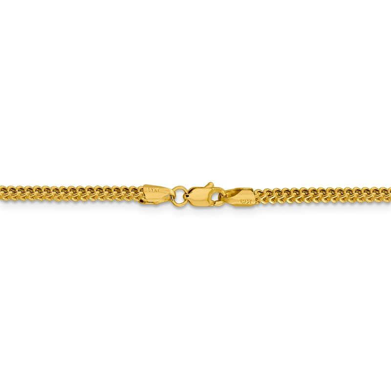 Quality Gold 14k 2.2mm Semi-Solid Franco Chain