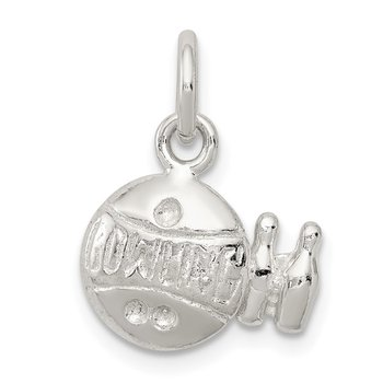 Sterling Silver Bowling Ball Charm
