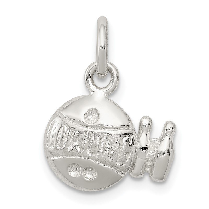 Quality Gold Sterling Silver Bowling Ball Charm