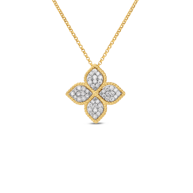 Roberto Coin 18Kt Gold Large Pendant With Diamonds