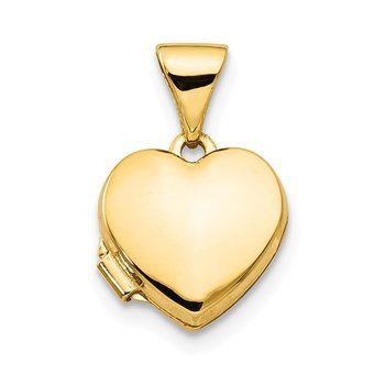 14k Polished Plain Heart Locket