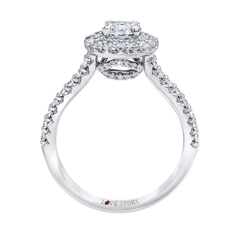 Double Halo Engagement Ring by Love Story