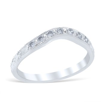 Florin Leaf Wedding Ring