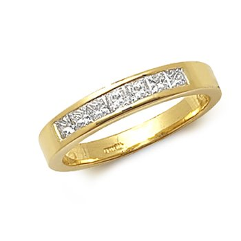 Pcut 7 Stone Channel Ring