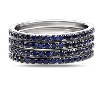Multi  Sapphire Bands  72 sapphires T.W 1.08