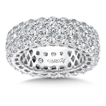 CARO 74 Eternity Band  in 14K White Gold (Size 4.5)